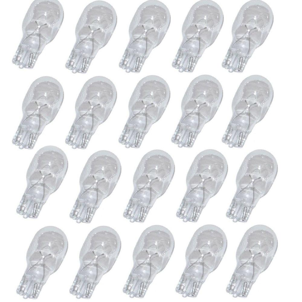 20 Wedge Base Light Bulb T5 7 Watt Replacement Bulbs For