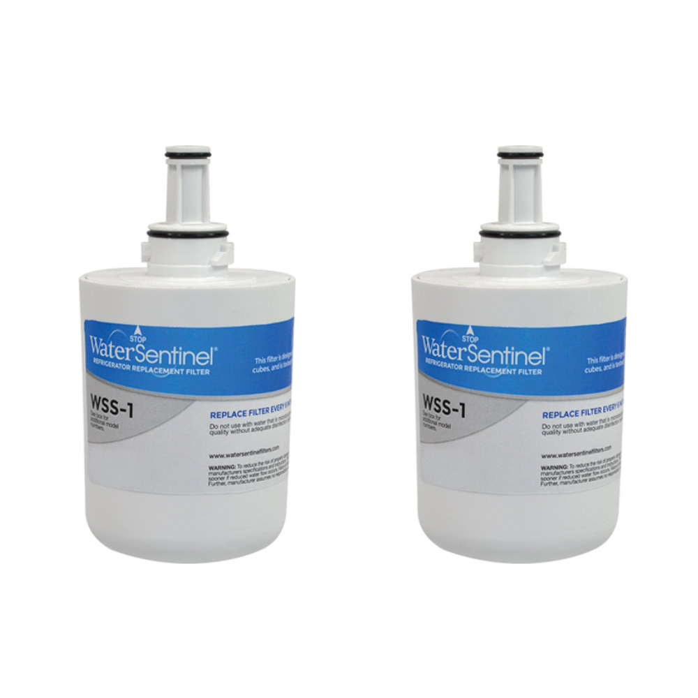 2 Pack Refrigerator water filter Fits for Samsung RF268ABWP
