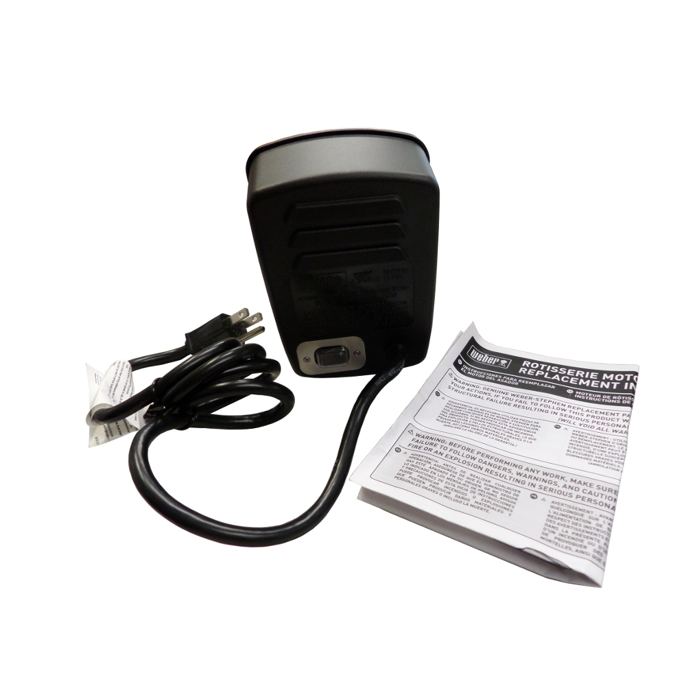 Weber Outdoor Replacement Rotisserie Spit Motor With Cord