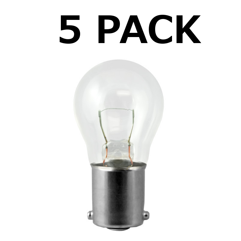 5 Pack 1141 S8 5pk Low Voltage Landscape Light Bulb 12v 18w Ba15s