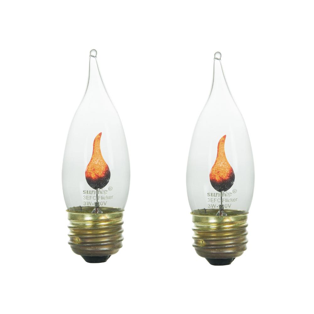 2 Pack Flame Light Bulb Flicker Edison E26 Standard Base