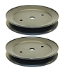 2 AYP 195945 Lawn Mower Blade Pulley 532197473 Genuine