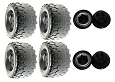 Power Wheels Jeep Wrangler Wheels Kit 4 Tires & Retainers B7659-2459