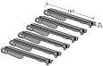Bull Angus Grill 4 Burner, Brahma 5 Burner Replacement Burners, 6 Pack