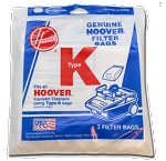 Hoover Type K Vacuum Bags Spirit Cannister Filter Type