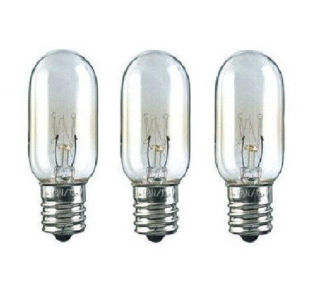 Microwave Light Bulb For Kitchenaid Whirlpool 40 Watt 3 Pack