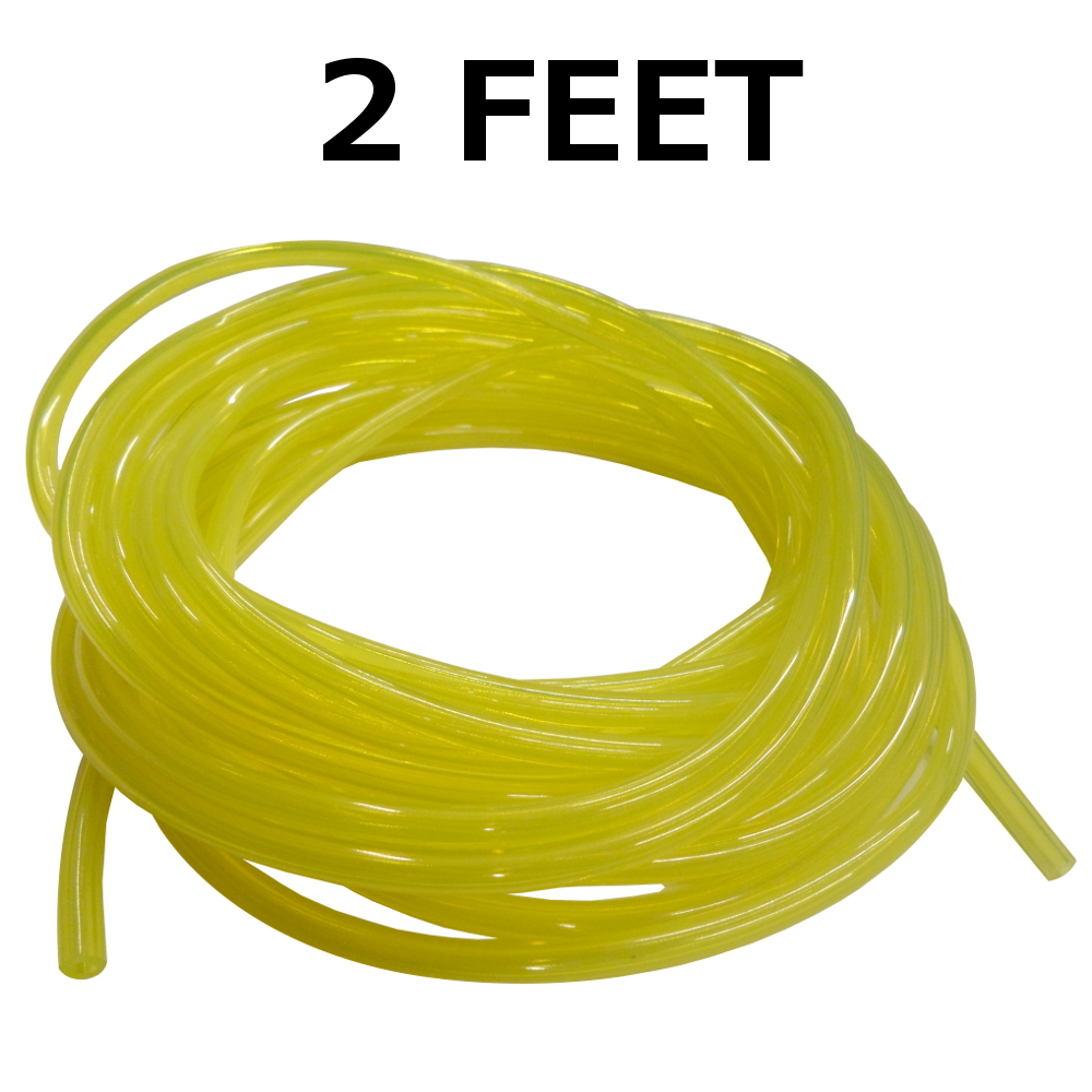 Clear Yellow Fuel Line,1//8 X 1//4,.125X.250,Craftsman,Ryobi,Poulan,Weedeater-1 Ft