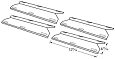 Members Mark Gas Grill Heat Plate 720-0582 Heat Shield 4 Pack