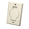 Central Vac Inlet Valve with Round Door - Beige for Beam