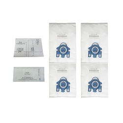 EFP HEPA Bag for Miele GN AirClean 3D Efficiency HyClean Cloth, 4 Vacuum Bags + 2 Filters