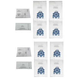 EFP HEPA Bag for Miele GN AirClean 3D Efficiency HyClean Cloth, 8 Vacuum Bags + 4 Filters