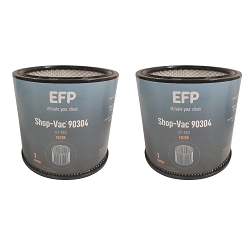 EFP Replacement Shop Vac Filter 90304, 9030400 Wet/Dry Vacuum Cartridge Filter 2 Pack