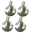 Maytag Stove Knobs 4 Pack Chrome Oven Control Knob Replaces 74007918