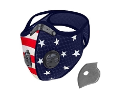 Dust Sports Face Cover Windproof Breathable Design for Running Cycling Mowing Outdoor Activities - USA American Flag Color