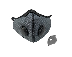 Dust Sports Face Cover Windproof Breathable Design for Running Cycling Mowing Outdoor Activities - Grey Color