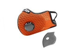 Dust Sports Face Cover Windproof Breathable Design for Running Cycling Mowing Outdoor Activities - Orange Color
