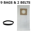 9 Vacuum Bags & 2 Belts for Bissell Style 1 & 7, 30861  Microlined