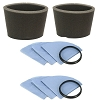 Filters for Shop Vac Vacuum 901-07 6 Reusable Dry Filters and 2 Foam Filter