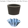 Shop Vac 9010700, 90107 Vacuum Reusable Dry Type S 6 Filters + 2 Foam Filters