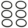 Hoover Upright Convertible Vacuum Cleaner Belt Replaces 40201048, 6 Pack
