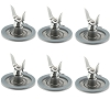 Oster 4961 Ice Crusher Blade Cutter Assembly Stainless Steel 6 Pack