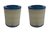 2 Filter for Craftsman 17816 Wet Dry Vac Red Stripe Fine Dust Ridgid Replacement