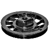 Starter Rewind Recoil Pulley & Spring Replaces Briggs Stratton 498144, 281504