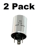3-Prong Turn Signal Flasher 535 Relay 6 Volt Vintage Cars Positive Ground 2 Pack