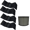HEPA Plus Filter for Filter Queen Defender Air Purifier 360 AM4000 D360 w 4 Wraps