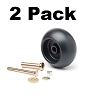 Replacement Deck Wheel + Kit Fits Exmark 103-3168 103-4051 1-603299 (2-Pack)