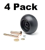 Replacement Deck Wheel + Kit Fits Exmark 103-3168 103-4051 1-603299 (4-Pack)