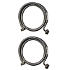 Stainless Steel Washing Machine 90 Degree 5' Set Inlet Fill Hoses with Washers