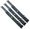 3 High Lift Mower Blades for AYP Poulan 187256