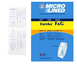 DVC Micro-Lined Paper Replacement Bags Style F/G Fit Eureka and Sanitaire Commercial Uprights - 3 Bags