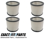 4 Filter Cartridge for Shop Vac 9030400 Wet Dry 903-04-00 H12