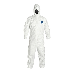 Tyvek Coverall Suit with Hood Large
