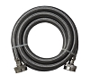 Universal Stainless Steel Washing Machine Braided Fill Hoses Hot Cold 4ft