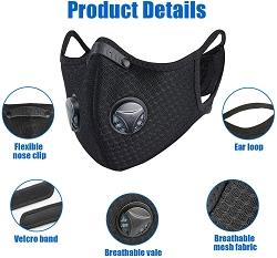 Sports Mask Dust Face Mask Breathable Vents Designed for Running Cycling Mowing