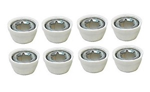 Power Wheels White Wheel Retainer Cap Nut 0801-0376 00801-1452 8 Pack