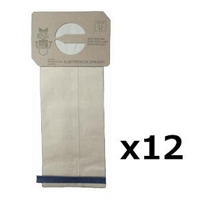 12 Style U Vacuum Bags for Electrolux