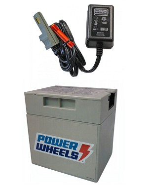 Power Wheels Battery and Charger Barbie Jeep 12 Volt