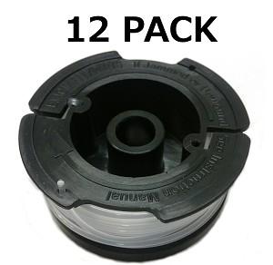 12 Trimmer Spools for Black and Decker  065 AF-100-3ZP