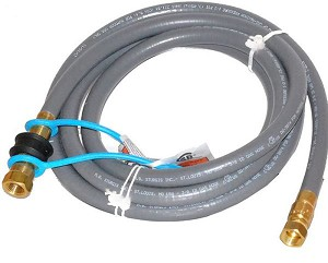 Weber #99263 10 Foot 3/8 Inch Natural Gas Hose Kit with 3/8 Quick Disconnect Fitting