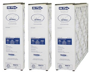 Trion Air Bear Supreme 1400 3 Pack 16x25x5 Merv 11 Furnace Filter