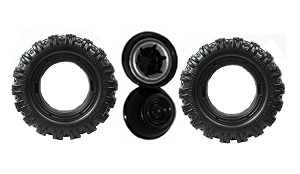 Power Wheels Hurricane 2 Wheel Replacement Tire & Retainers J4394-2529