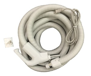 Central Vac Hose Assembly 35ft Direct Connect Electric Hose Pigtail