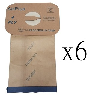 6 Vacuum Bags for Electrolux Style C Canister