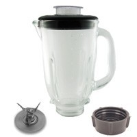 Oster Osterizer Round Blender Jar Assembly, Black, Glass O-ROJA-G