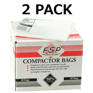 120 Whirlpool Trash Compactor Bags Compatible with Kenmore 18