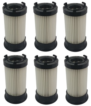 6 Filters for Eureka Vacuum DCF4 DCF-18 62132 63073 HEPA Washable